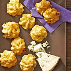 Blue Cheese and Pine Nut Puffs     #party #menu #holiday #apps #appetizers #easy