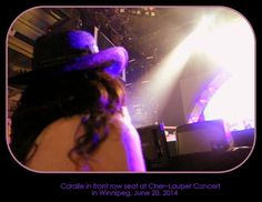 Purplicious and captivated, David and I sitting front row and center at a Cher concert.