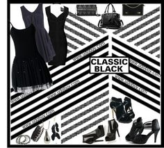 """""""Udobuy Classic Black"""" by lilysue ❤ liked on Polyvore"""