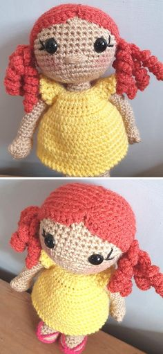 The Best Cute Crochet Doll Amigurumi Ideas. You will need a 3 mm hook to crochet this doll. This adorable weebee toy is really soft and cuddly. She will be more than happy to play with your kiddos and follow them everywhere! It's a very simple and repetitive pattern, so you don't have to worry if you're not an advanced crocheter.  #freecrochetpattern #amigurumi #toy Little Girl Gifts, Little Girls, Love Crochet, Crochet Hooks, Doll Patterns, Crochet Patterns, Amigurumi Doll, Free Pattern, Best Gifts