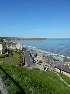 Filey on a beautiful summers day