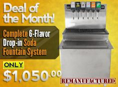 Deal of the Month 04/08/2014 - 6-Flavor Drop-in Soda Fountain System