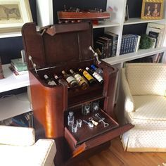 Converting Old Radio Cabinet A Bar Inside A Tv I Ripped