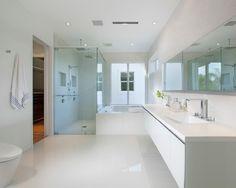 White Colored Ideas for Perfect Master Bathroom Interior