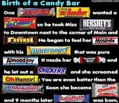 Birth of a candy gram!