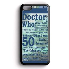 Doctor Who Quotes iPhone 5C Case