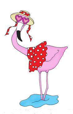 deariedolls.quenalbertini: Flamingo | Free Dearie Dolls Digi Stamps