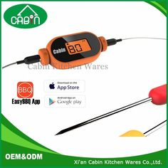 Candy Shape Digital Cooking Bluetooth Dual Probe Wireless Grill Meat Oven BBQ Thermometer with iPhone Android Smart Phone App