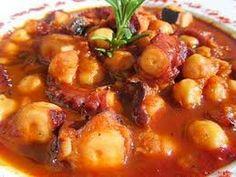 GUISADO DE PULPO - YouTube Fish Recipes, Seafood Recipes, Mexican Food Recipes, Italian Recipes, Salad Recipes, Ethnic Recipes, Spanish Kitchen, Spanish Food, Seafood Dishes