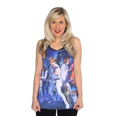 "Her Universe ""NEW HOPE GROUP TANK"" ($28.00) ~ ""This is the classic Star Wars tank top you've been looking for! The search is over! Everyone needs that retro Star Wars top in their wardrobe, especially in 2015. Star Wars is being celebrated all year long and this is the perfect top to pay homage to the film that started it all."""