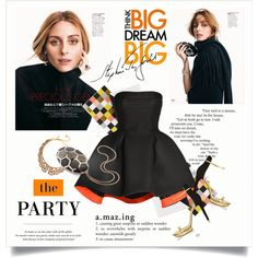 Olivia Palermo - The party by amaryllis on Polyvore featuring Parlor, Michael Kors, Bulgari, Oscar de la Renta and Rifle Paper Co