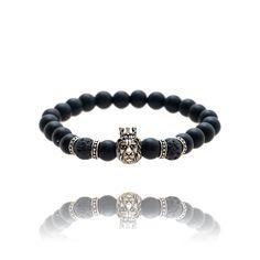 Charm Bracelet for men Bridal Hair Accessories, Fashion Accessories, Bracelets For Men, Beaded Bracelets, Red Silk Scarf, Lion Bracelet, Cubic Zirconia Earrings, Jewelry Stores, Brooch