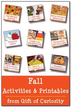 Fall activities and printables || Gift of Curiosity