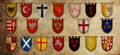 All different Knight's flags. They can be tied into some promotion or charity event and people can get their names put on them. Or put The Knights Code Of Honor on them - honor, sacrifice etc.