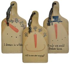 Snowman Bread Boards - Assorted