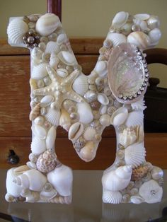 Shell Covered Letters/Initials, Beach Wedding Gift Idea, Beach Themed Decor