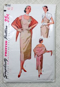 Vintage sewing Pattern Simplicity 3546 by momandpopcultureshop