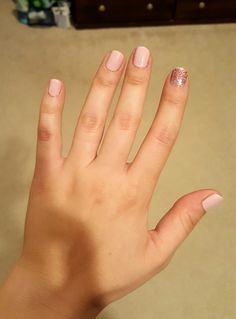 Light pink and glitter
