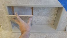 4 simple steps for a finished shower niche in under 10 minutes! Upstairs Bathrooms, Small Bathroom, Bathroom Ideas, Bathroom Updates, Bathroom Remodeling, Remodeling Ideas, Shower Niche, Bathroom Design Luxury, Tiling