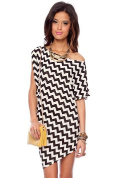 Slanted Zig Zag Dress in Black and White $22 at www.tobi.com...that's all fine and dandy, but I just love this look.