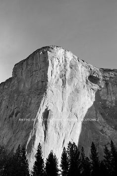 EL CAPITAN YOSEMITE NATIONAL PARK BLACK AND WHITE Fine Art Prints