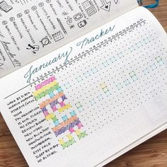 Tracking repeat tasks and events in my monthly calendar with these little boxes :)