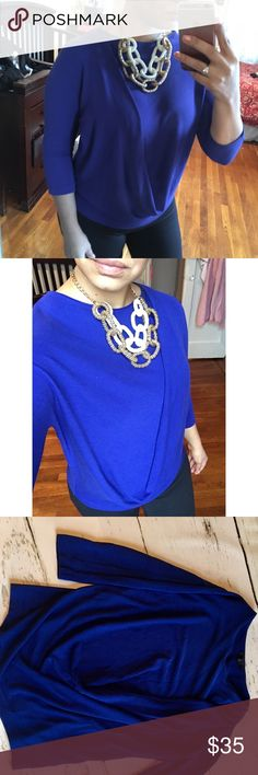 COS asymmetrical front drape top. COS asymmetrical front drape top.  In perfect preowned conditions. Beautiful royal blue color. This is a H&M higher end owned brand that just recently came to the USA. COS Tops Blouses