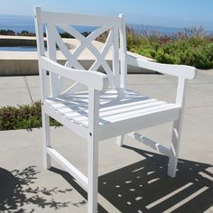 Siesta White Flower Pattern Wood Garden Armchair. Patio Dining ChairsDining ... & 80 Best *Patio Furniture u003e Chairs u0026 Ottomans* images | Chair ...