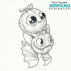 Cutest art. Chris Ryniak #morningscribbles