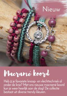 #macramé #koord #nieuw bij #kralenwinkelonline ideaal voor het #knopen van #armbanden en andere sieraden.