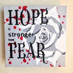 The Hunger Games Hope Original Painting White by HereComesTheNerd