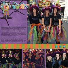 This Is Halloween Disney digital scrapbook page layout idea