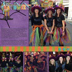 This Is Halloween Disney digital scrapbook page layout idea