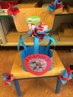 Kleuterjuf in een kleuterklas: Hieperdepiep hoera! | Verjaardagsmutsen