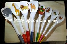 Dear Zoo by The Story Spoon Company plus p&p Wooden Spoon Crafts, Wooden Spoons, Wooden Toys, Dear Zoo Activities, Big Toy Box, Story Sack, Story Retell, Little Tikes, Happy 1st Birthdays