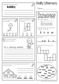 Literacy Worksheets, Literacy Skills, Long Vowels, Thing 1, Common Core Reading, Vowel Sounds, Small Words, Kindergarten Literacy, Morning Work