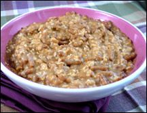 Hungry Girl - Pumpkin Pie Oatmeal Insanity - I leave out the fiber one and use skim milk