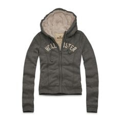Hollister Girls White Point Hoodie - SHerpa Lined