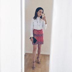 Modern Filipiniana - T'nalak Pencil Skirt (@carolific, almostdiplomatic.com) Filipiniana, Modern Traditional, Filipino, Pencil, Skirts, How To Wear, Fashion, Moda, Skirt