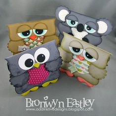 Punch art gift bags - addINKtive designs: Top Note Critters - Free tutorial charts and a link to a bag made with the Envelope Punch Board that fits. AS a card or as a gift bag...very cute!