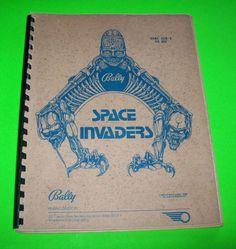 SPACE INVADERS By BALLY 1980 ORIGINAL PINBALL MACHINE SERVICE MANUAL SCHEMATICS #ballypinball #pinballmanual