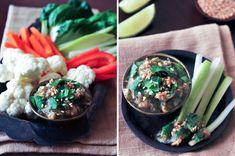 Nam Prik Noom, Thai roasted jalapeño dip. Roasted Jalapeños, Garlic, Shallots, and Spices. Sounds Amazing!