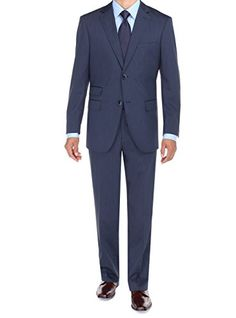 Bianco B Men's Two Button Ticket Pocket Jacket Flat Front Pants Modern Fit Suit (36 Short US / 46 Short EU, French Blue) Bianco B http://www.amazon.com/dp/B00NBDAKFI/ref=cm_sw_r_pi_dp_yVN-ub14NYTMK