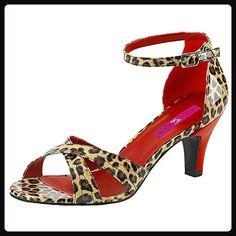 Sandalette leo, Damen, Beige (beige), Größe 46 - Sandalen für frauen (*Partner-Link)