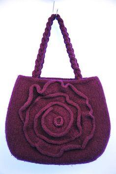 Ravelry: Felted Rose Bag pattern by Diane Bertolatti