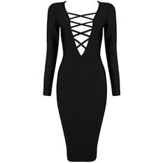 Pre-owned Black, Red, Beige, White Cross Her Heart Long Sleeve Bandage... ($164) ❤ liked on Polyvore featuring dresses, vestidos, long sleeve bandage dress, sexy white dresses, black white dress, sexy red dress and white long sleeve dress