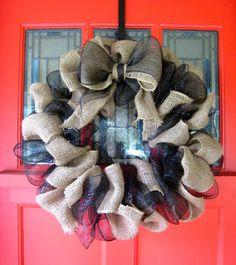 burlap wreath_mesh wreath