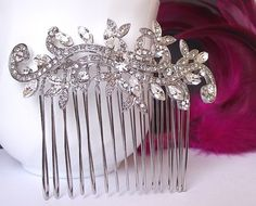 Crystal Bridal hair comb wedding hair comb by nefertitijewelry2009, $35.00