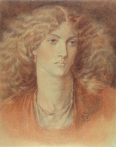 Head of a Woman, called Ruth Herbert, 1876 (red & black chalk on paper) by Rossetti, Dante Charles Gabriel Dante Gabriel Rossetti, John Everett Millais, John William Waterhouse, Drawing Sketches, Art Drawings, Crayon Drawings, Pre Raphaelite Brotherhood, Edward Burne Jones, Albert Bierstadt