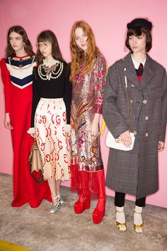 GucciFW 16 Backstage